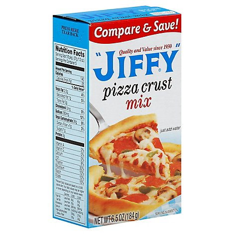 JIFFY Pizza Crust Mix Box - 6.5 Oz