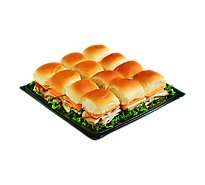 Deli Slider Tray Turkey And Cheddar - Each (1940 Cal)