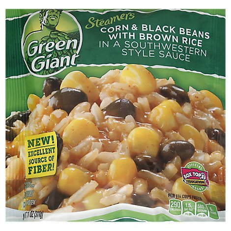 Green Giant Corn And Black Beans With Brown Rice And South Style Sauce - 11 Oz
