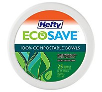 Hefty Bowls Super Strong Paper Soak Resistant Microwaveable 16 Ounce Bag - 25 Count