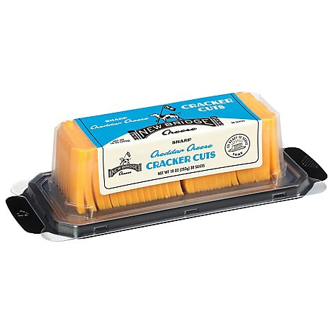 New Bridge Cheddar Sharp Yellow Cracker Cut - 10 Oz