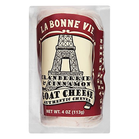 La Bonne Vie Goat Log Cranberry Cinnamon - 4 Oz