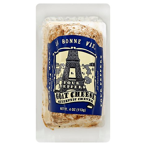 La Bonne Vie Goat Log 4 Pepper - 4 Oz