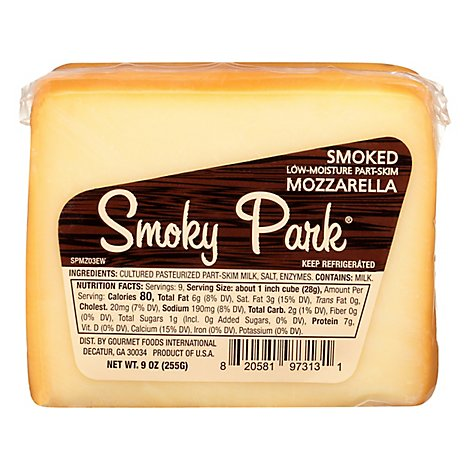 Smoky Park Mozzarella Smoked Ew - 9 Oz