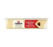 Cabot Cheese Cracker Cut Slices Seriously Sharp Cheddar - 10 Oz