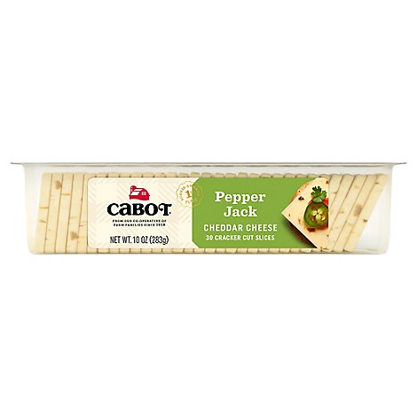 Cabot Cheese Cracker Cut Slices Premium Pepper Jack - 10 Oz