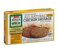 Jones Dairy Farm Sausage All Natural Golden Brown Chicken Patties 4 Count - 5 Oz