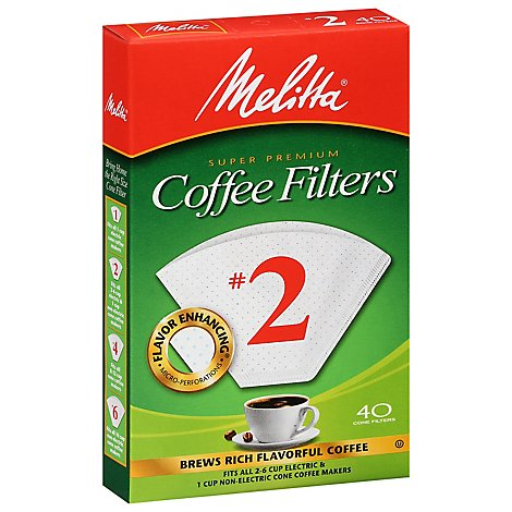 Melitta Coffee Filters Cone No. 6 - 40 Count