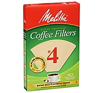 Melitta Coffee Filters Cone No. 1 Natural Brown - 40 Count