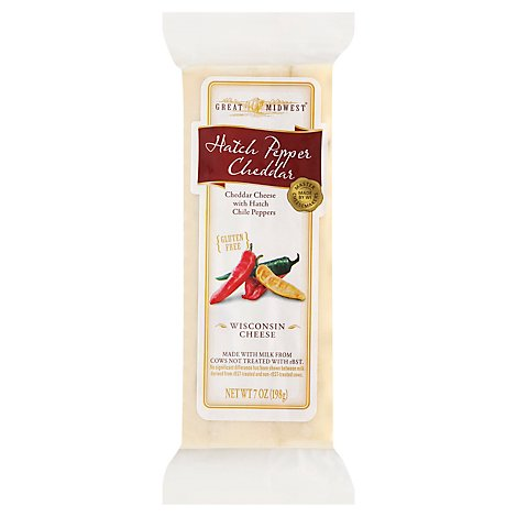 Great Midwest Cheese Hatch Pepper Cheddar - 7 Oz
