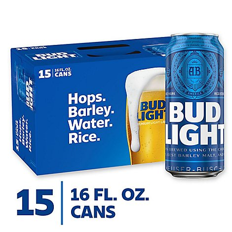 Bud Light In Cans - 15-16 Fl. Oz.