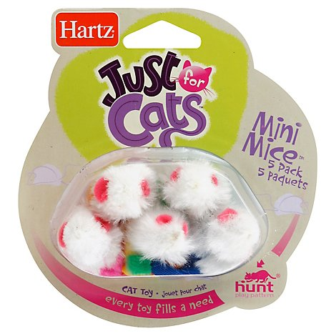 Hartz Mountain Mini Mice Cat Toy - 5 Count