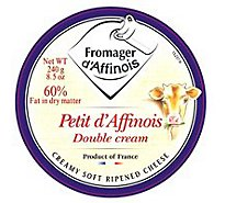Fromager d Affinois Cheese Creamy Soft Ripened Petit d Affinois Double Cream - 8.5 Oz