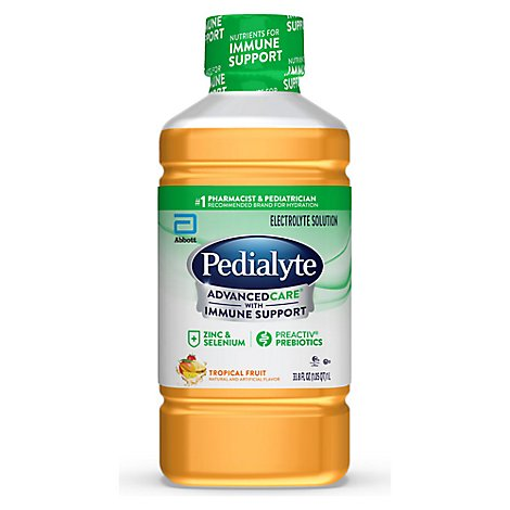 Pedialyte AdvancedCare Electrolyte Solution Tropical Fruit - 33.8 Fl. Oz.