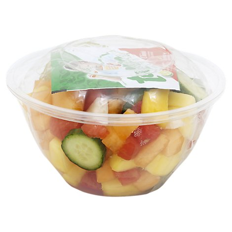 Fresh Cut Pico De Gallo Fruit Cup With Lime And Tajin - 12 Oz (150 Cal)