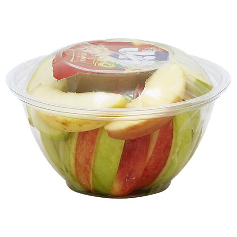 Fresh Cut Apple With Dip Cup - 10 Oz