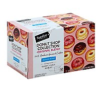 Signature SELECT Donut Shop Collection Coffee Arabica Single Serve Cups Medium Roast - 12 Count