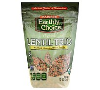 Natures Earthly Choice Lentil Trio Organic - 12 Oz