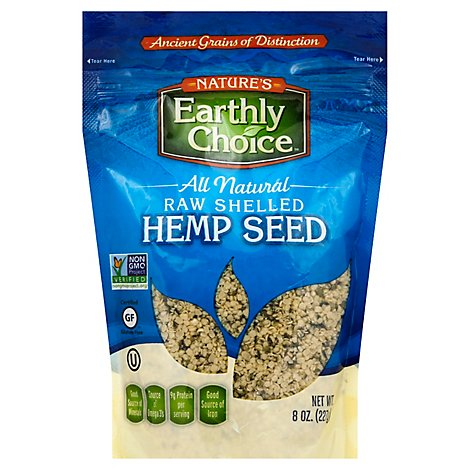 Natures Earthly Choice Hemp Seed Raw Shelled - 8 Oz