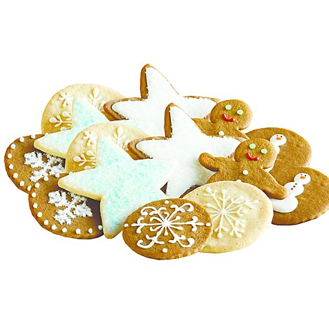 Bakery Cookies Holiday Cutout With Icing 12 Count - Each