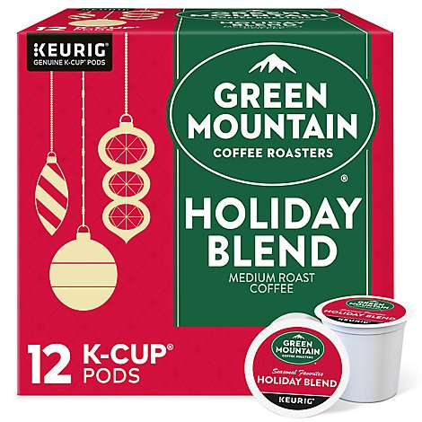 Green Mountain Coffee Roasters Coffee K Cup Pods Medium Roast Holiday Blend - 12-0.33 Oz