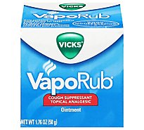 Vicks VapoRub Cough Suppressant Topical Analgesic Ointment - 1.76 Oz
