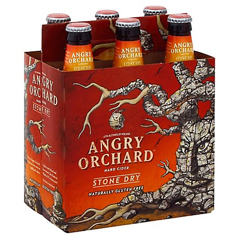 Angry Orchard Hard Cider Stone Dry Bottles - 6-12 Fl. Oz.