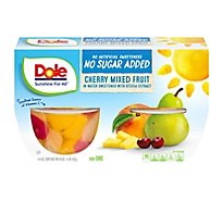 Dole Cherry Mixed Fruit No Sugar Added Cups - 4-4 Oz