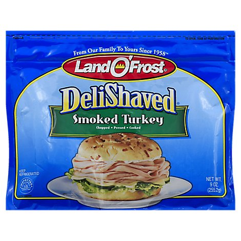 Land O Frost Deli Shaved Smoked Turkey - 9 Oz