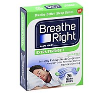 Breathe Right Nasal Strips Extra Clear - 26 Count