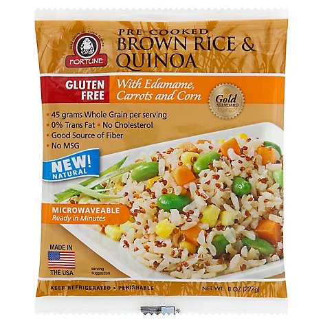 Jsl Fortune Brown Rice With Quinoa - 8 Oz