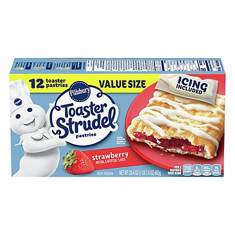 Pillsbury Toaster Strudel Pastries Strawberry Value Size 12 Count - 23.4 Oz
