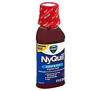 Vicks NyQuil Cold & Flu Relief Nighttime Liquid Cherry - 8 Fl. Oz.