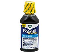 Vicks NyQuil Severe Cold & Flu Relief Nighttime Liquid Original - 12 Fl. Oz.