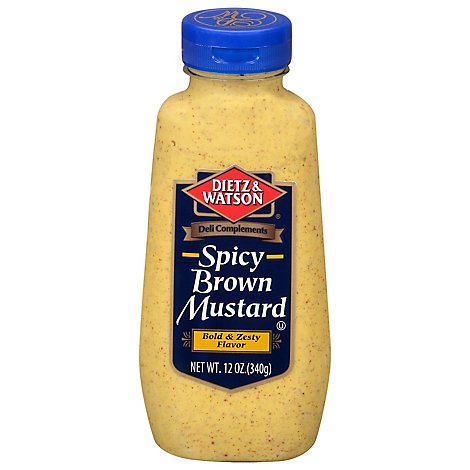 D&W Spicy Brown Mustard - 12 Oz