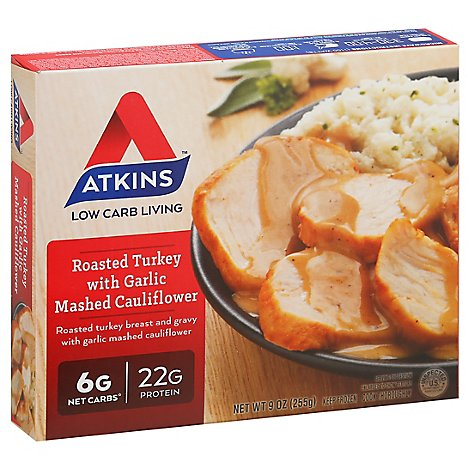Atkins Turkey Roasted with Garlic Mashed Cauliflower - 9 Oz