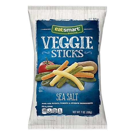 Eatsmart Snacks Garden Veggie Sticks Potato Tomato & Spinach Sea Salt - 7 Oz