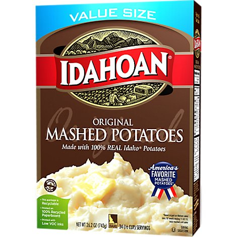 Idahoan Potatoes Mashed Original Box - 26.2 Oz