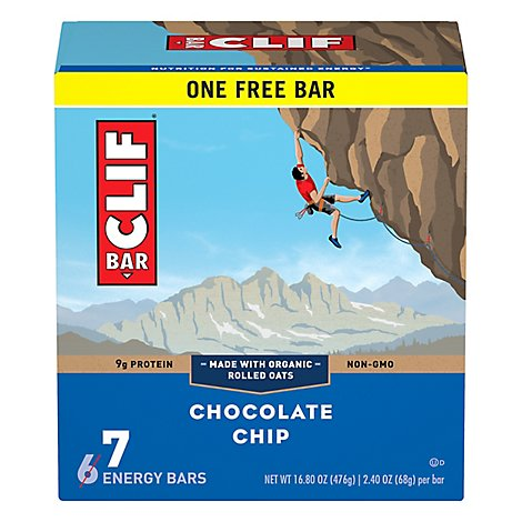 CLIF Energy Bar Chocolate Chip - 7-2.4 Oz