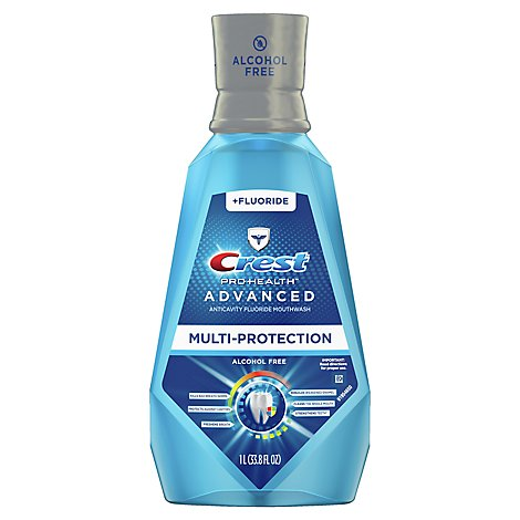 Crest Pro-Health Advanced Mouthwash Fluoride Anticavity Extra Deep Clean - 33.8 Fl. Oz.
