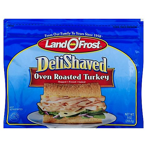 Land O Frost Deli Shaved Oven Roasted Turkey - 9 Oz
