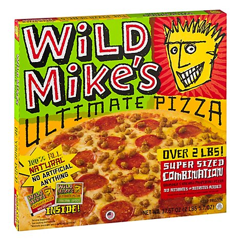 Wild Mikes Pizza Ultimate Combination Super Sized Frozen - 37.67 Oz
