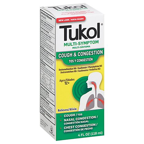 Tukol Multi Symptom Cold Extra Stength Adult - 4 Fl. Oz.
