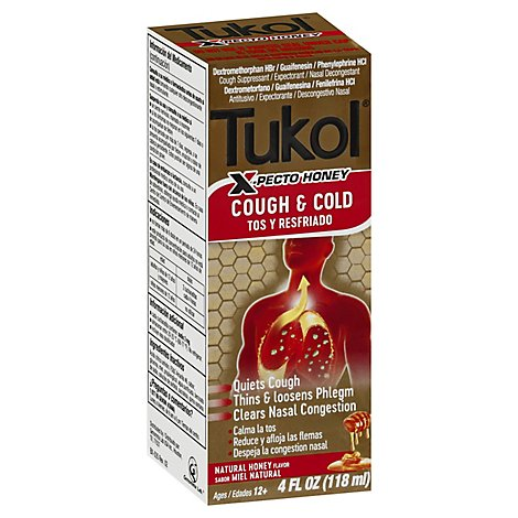 Tukol X-Pecto Miel Multi Symptom Cold Adult Natural Honey - 4 Fl. Oz.
