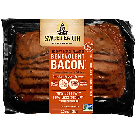 Sweet Earth Hickory & Sage Smoked Seitan Bacon - 5.50 Oz