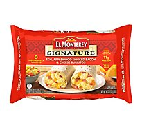 El Monterey Signature Breakfast Burritos Egg Applewood Smoke Bacon and Cheese 8 Count - 36 Oz