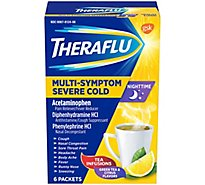 Theraflu MultiSymptom Severe Cold Nighttime With Green Tea & Citrus - 6 Count