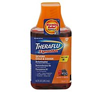 Theraflu ExpressMax Severe Cold & Cough Pain Reliever/ Fever Reducer Daytime Berry - 8.3 Fl. Oz.