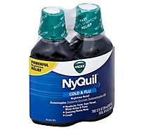 Vicks NyQuil Cold & Flu Relief Nighttime Liquid Original - 2-12 Fl. Oz.