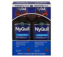 Vicks NyQuil Cold & Flu Relief Nighttime Liquid Cherry - 2-12 Fl. Oz.